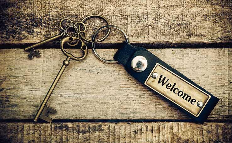 welcome key